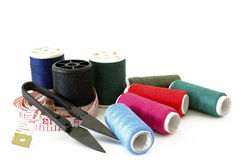 Sewing kit isolate Stock Photo