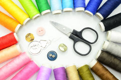 Sewing kit Stock Photography