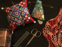 Sewing kit. A set of several items for sewing Stock Photography