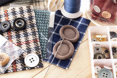 Sewing kit stuff Royalty Free Stock Photos