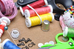 Sewing kit tailor's tools Royalty Free Stock Image