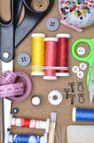 Sewing kit tailor's tools Stock Image