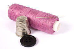 Sewing kit thimble Royalty Free Stock Image