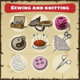 Sewing and knitting set Stock Photo