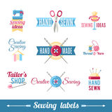 Sewing labels pictograms  collection Royalty Free Stock Image