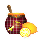 Sewing lemon and honey Royalty Free Stock Photography