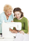 Sewing Lessons Royalty Free Stock Photography