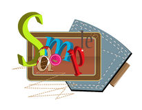 Sewing Letters Royalty Free Stock Photography