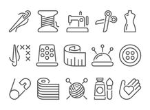 Sewing line icon. Sewing vector line style icon vector illustration
