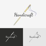 Sewing logo Royalty Free Stock Image