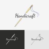 Sewing logo Royalty Free Stock Image