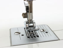 The sewing-machine. Of white color of electric type of new generation Stock Image