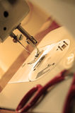 Sewing machine 2. Photo Sewing machine in sepia Stock Image