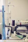 Sewing machine. Manual sewing machine at work Stock Photos
