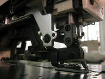 Sewing machine. Series, foot closeup Royalty Free Stock Photo