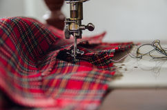 Sewing  machine with  arn Royalty Free Stock Images