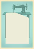 Sewing machine background Stock Image