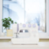 Sewing machine. Blurred image. Royalty Free Stock Images