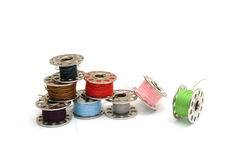 Sewing machine bobbins Royalty Free Stock Photography