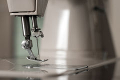 Sewing machine close up Stock Photo