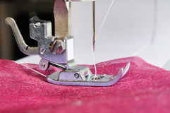 Sewing machine close up Stock Photos