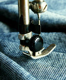 The sewing machine close-up. Stock Images