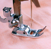 The sewing machine close-up. Stock Photo