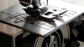 Sewing machine. Close up on a sewing machine showing process