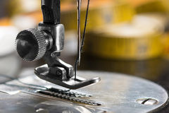Sewing Machine. Close up of vintage sewing machine needle Royalty Free Stock Photo