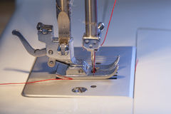 Sewing machine closeup Royalty Free Stock Photography