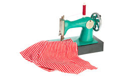 Sewing machine with clothes royalty free stock images