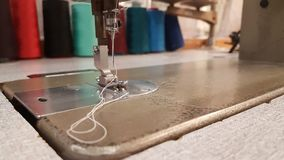 Sewing machine clothes repair old Stock Photos