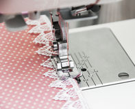 Sewing Machine Detail Stock Photography