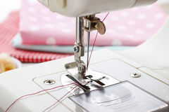 Sewing machine and dressmakers accessories Stock Images