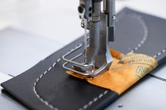 Sewing-machine of electric type Royalty Free Stock Images