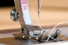 Sewing Machine Foot Stock Photo