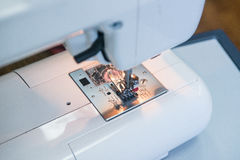 Sewing machine foot royalty free stock image