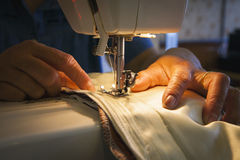 Sewing by Machine Royalty Free Stock Images