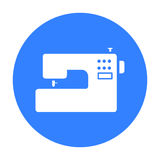 Sewing machine icon of vector illustration for web and mobile Stock Images
