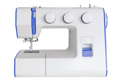 Sewing machine isolated on a white background Stock Photos