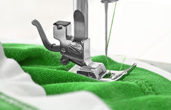 Sewing machine and item of clothing Royalty Free Stock Photo
