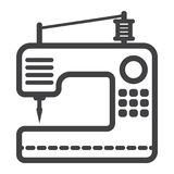 Sewing machine line icon, household and appliance Stock Photo