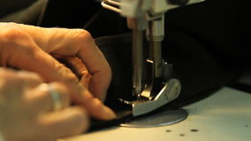 Sewing Machine Loden Manufacturing In Italy stock footage