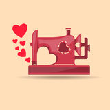 From sewing machine with love Royalty Free Stock Photo
