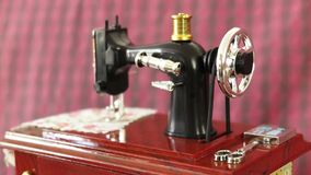 Sewing machine model stock video footage