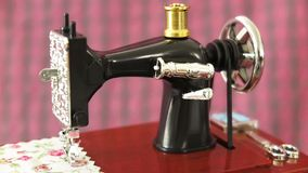 Sewing machine model stock footage