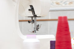 Sewing machine and needle Royalty Free Stock Photos