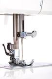 Sewing machine needle plate macro Stock Images