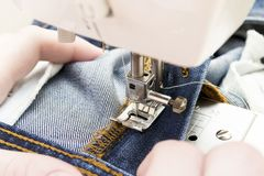Sewing machine with needle Royalty Free Stock Photography