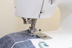 Sewing machine with needle Royalty Free Stock Photos